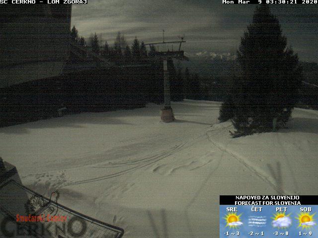 Webcam de la Estación de Esquí de Cerkno
